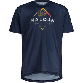 Maloja SchwarzerleM. Multi Short Sleeve Multisport Jersey Men, niebieski
